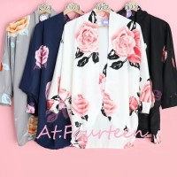 Baju Atasan blouse Dress Wanita cewek Motif Bunga