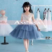 Baju Anak Perempuan Dress Pesta anak tutu Brokat Flower Amissa Calista