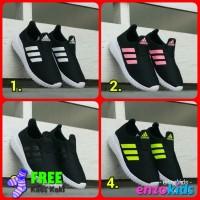 Sepatu Anak Adidas Slip On Hitam Size 31-35 Import Vietnam