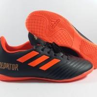 Sepatu FUtsal Adidas Predator 18.4 Black Red IC Replika Impor