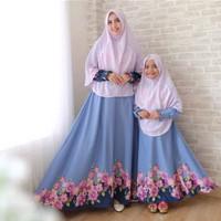 baju lebaran couple mom n kids Sharifah khimar COUPLE MOMKID COUPLE IB