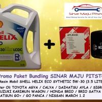 Paket SHELL HELIX ECO 5W-30 & FILTER OLI MOBIL KIA PICANTO 1.2