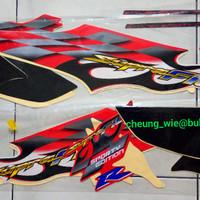 lis body/ striping / stiker honda supra fit new R 2006 cw merah putih