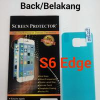Anti Gores Belakang Back Clear Bening Samsung Galaxy S6 Edge / G925