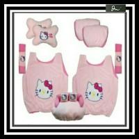 bantal set mobil 5 in 1 hellokitty warna pink sarung jok 5in1 murah