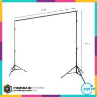 Background stand 2 x 3 meter / Bracket Stand 3m Backdrop Foto Studio