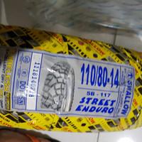 Ban luar swallow tubeless 110/80-14 sb117