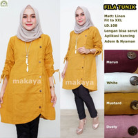 Baju wanita blouse tunik fila muslim modern lucu modis keren trendi