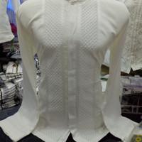 Baju Koko Putih Polos Bagus Bahan Cotton Silk Tomi