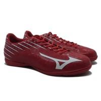Sepatu Futsal Mizuno Basara 104 IN - High Risk Red/White P1GF186501