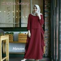 Promo DL190518 baju muslim tanah abang gamis Deriza maroon
