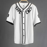 JERSEY BASEBALL - Baju Baseball / Baju hip-hop / dxpe white