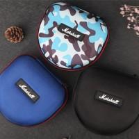 Headphone Headset hard case pouch box for marshall audio technica jbl - BLACK