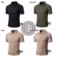 Kaos Polo Berkerah Coolmax Tactical Combat Shirt With Velcro Quick D