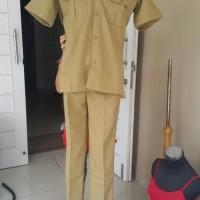 baju kemeja Baju Seragam khaki PDH PNS/Pemda/Guru/Pria/Laki dongker