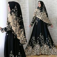 Baju Muslim gamis Syari Jumbo Busui Arimby N1 baloteli ld110 fit to xl