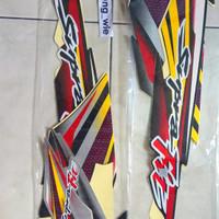 lis body. striping.stiker honda supra fit gen1 2004 silver hitam kw1