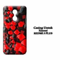 Casing XIAOMI REDMI 5 PLUS black red tablet Custom Hard Case Cover