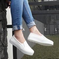 Isabel AADC Sepatu Kets Santai Wanita Slip On Shoes White Putih