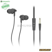 Rock Lava Stereo HiFi Quality Earphones with Microphone - Y1 - Hitam