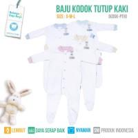 JUMPER SLEEPSUIT TUTUP KAKI PUTIH (ISI 2PCS) - KDSK S-M-L