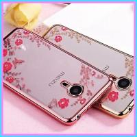 Meizu m2 mini soft case casing back cover ultrathin bling TPU FLOWER
