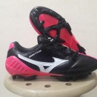 Sepatu Bola Mizuno Wave Ignitus 4 Black Pink FG Replika Impor Read
