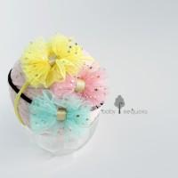 Headband - BABY SEQUOIA - TUTU BOW Bandana Bayi Anak - size 0 - 12 mo