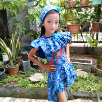 baju batik fashion show anak/batik pesta anak/batik anak/batik casual