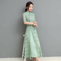 Cheongsam Klasik Shanghai Adat Chinese China Cina Modern Baju Pakaian