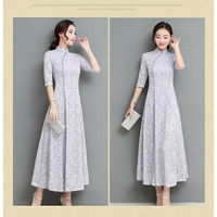 Cheongsam Shanghai Dress Baju Klasik Adat Modern China Cina Pakaian