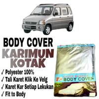 Sarung Body Cover KARIMUN KOTAK Pelindung Penutup Bodi Mobil Karimu Dx