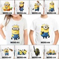Kaos / Baju Anak Minion Banyak Design (Gratis Tambah Nama)