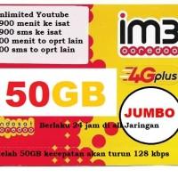 Kartu perdana Indosat ooredoo IM3 Paket Data UNLIMITED JUMBO 50 GB