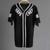 JERSEY BASEBALL - Baju Baseball / Baju hip-hop / dxpe black
