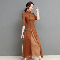 Cheongsam Dress Baju Shanghai Adat Chinese China Cina Klasik Modern