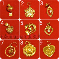 Mainan liontin emas asli kadar 700 70% 22k 0,6 0.6 g gr gram