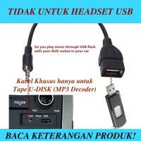 V-TECH AUX Audio Plug Jack 3.5mm Male To USB 2.0 Female Adapter BLACK