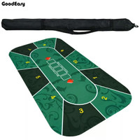 Deluxe Rubber Texas Hold'em Poker Table cloth 180x90cm with Flower