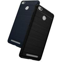 Case Ipaky Carbon Fiber Xiaomi Redmi 3 Pro Softcase Shockproof TPU