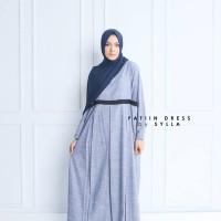 FATIIN Dress Sylla Hijab Gamis Syari Polos Premium Baju Manyusui Hamil