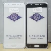 Tempered Glass Full Cover Samsung J7 Prime ( Full Lem, Tidak Pelangi )