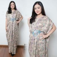 Dress Maxi Gamis Kaftan Zahira Longdress Batik Jumbo Wanita