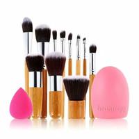 Set Kuas Makeup ( paket bambu brush egg telur )