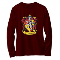 Kaos / tshirt / baju Harry Potter Gryffindor lengan panjang