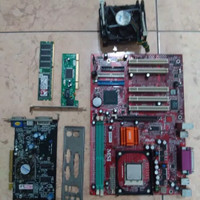 PAKET MOBO + PROCIE + VGA + RAM + PCIE ETHERNET + BACKPANEL