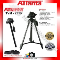 ATTanta TVM-2239 Tripod Monopod for Camera DSLR Camcorder Mirrorless
