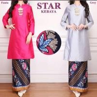 BAJU MUSLIM DRESS Atasan Baju Kurung Melayu Kebaya Simpel Modern