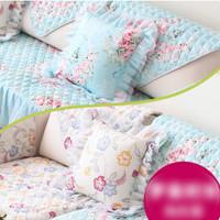 Blue Floral Sofa Cover / Alas Kursi Sofa Jok Mobil Shabby Floral Lace