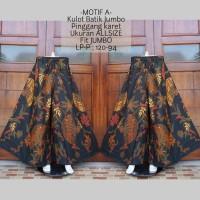 celana kulot panjang jumbo batik bahan katun terbaru KB22 motif A